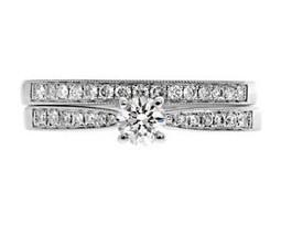 PR1058 Combination Set Side Stone Ring | Bespoke Diamonds | Engagement Rings Dublin | Scoop.it