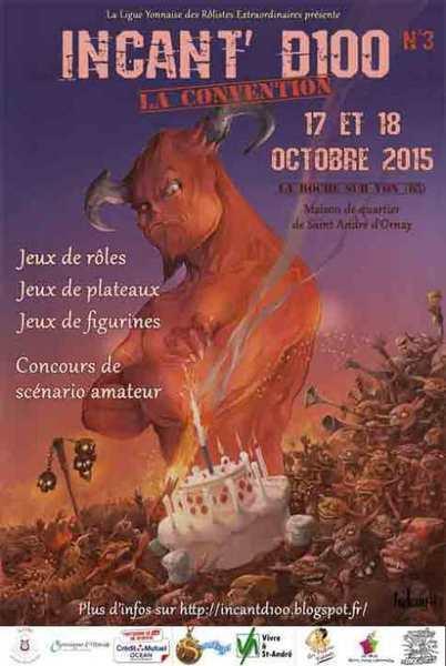 Convention de Jeu de Rôle Incant'D100 à la Roche sur Yon | Jeux de Rôle | Scoop.it