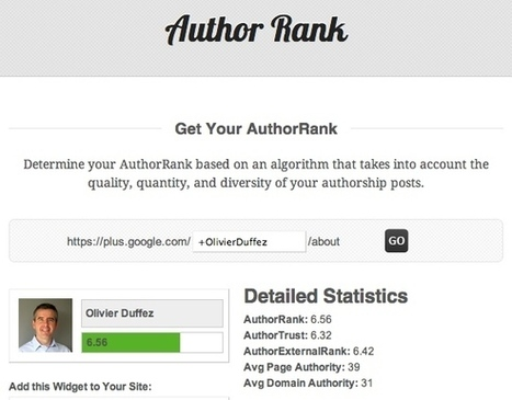 Un outil pour évaluer son Author Rank : authorrank.org | Google's Tools | Scoop.it