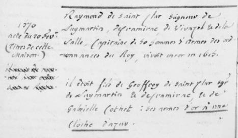 Châteauneuf et Jumilhac: Découvertes dans le cabinet des titres d'Hozier | GenealoNet | Scoop.it