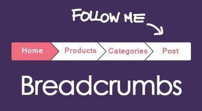 How to Implement and Customize Breadcrumbs Trails - Designsave.com | Freebies and Resource | Scoop.it