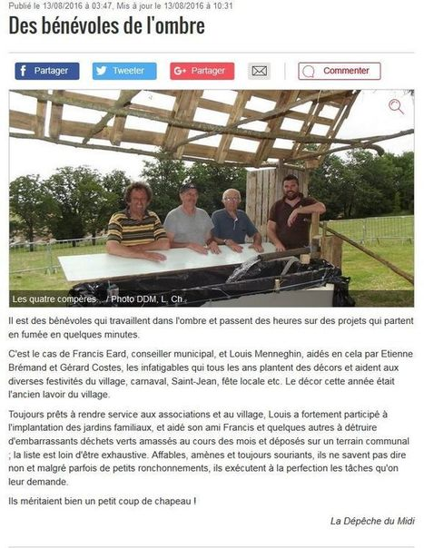 bénevoles de l'ombre - Site de mairie-auzielle ! | Vu dans les media | Scoop.it