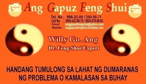 MASTER FENG SHUI WILLY GO. ANG OFFER FREE CONSULTATION | PHILIPPINE FENG SHUI EXPERT MR. ANG OFFER FREE CONSULTATION | Scoop.it