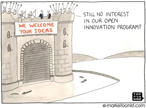 """Open Innovation"" cartoon | Tom Fishburne: Marketoonist | Business Innovation | Scoop.it"