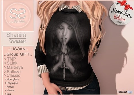 Shanim Sweater Group Gift by LISSAN | Teleport Hub - Second Life Freebies | Second Life Freebies | Scoop.it