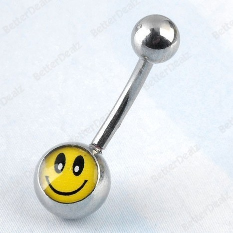 Stainless Steel Belly Navel Ring PiercingEnamel SmileCurved Barbell | Fashion Jewelry | Scoop.it