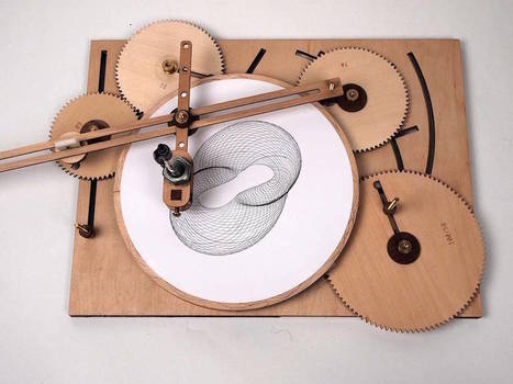 Ingenious Geometric Designs with a Wooden Drawing Machine | laurent | Scoop.it