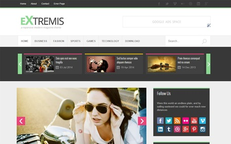 Extremis Responsive Blogger Template | Blogger Templates | Scoop.it