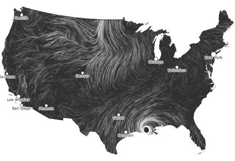 Wind Map | GIS in Education | Scoop.it