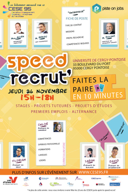SPEED RECRUT 2015 (Forum Emploi) - jeudi 26 novembre 2015 - Université de Cergy-Pontoise | Infos en Val d'Oise | Scoop.it