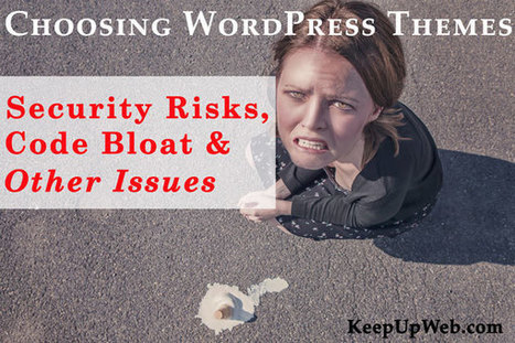 Choosing WordPress Themes: Security Risks, Code Bloat and Other Issues | Keep Up With The Web | Scoop.it