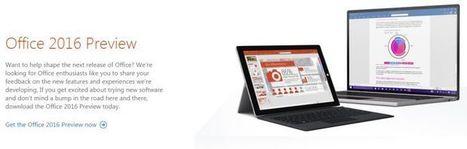 Microsoft lanza la vista previa de Office 2016 | Aprendiendoaenseñar | Scoop.it