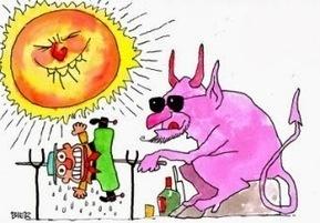 Tá tão quente, mas tão quente, que até o Sol anda procurando uma sombra