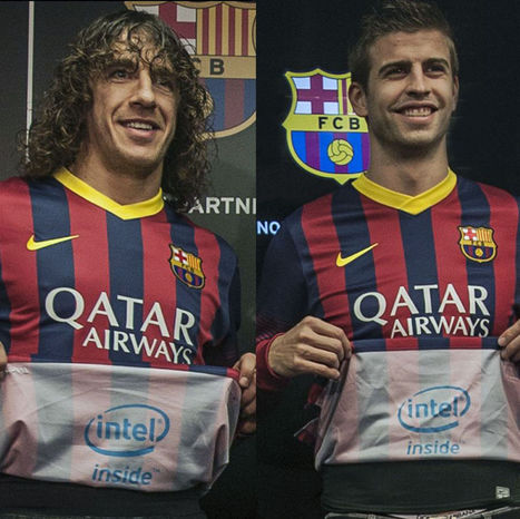 Intel Puts Logo Inside of Barcelona Shirt to Be Seen After Goals | Disruptive Innovation | Scoop.it