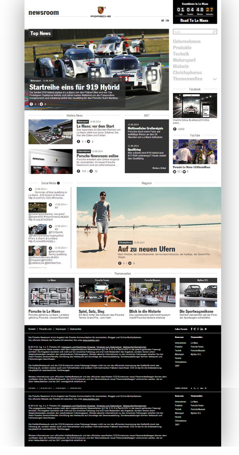 Porsche Newsroom | Social Media Newsrooms | Scoop.it