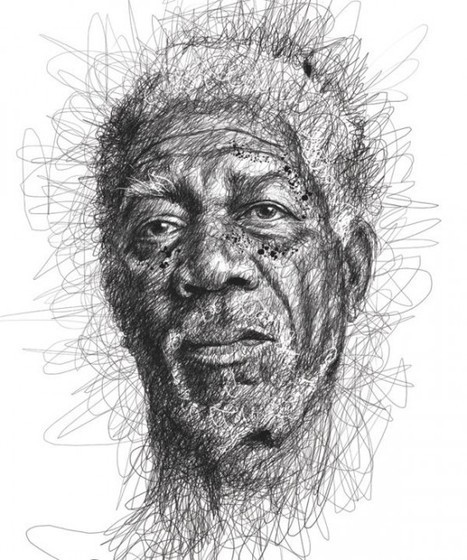Malaysian Artist Makes Celebrity Portraits from Scribbles | Strange days indeed... | Scoop.it