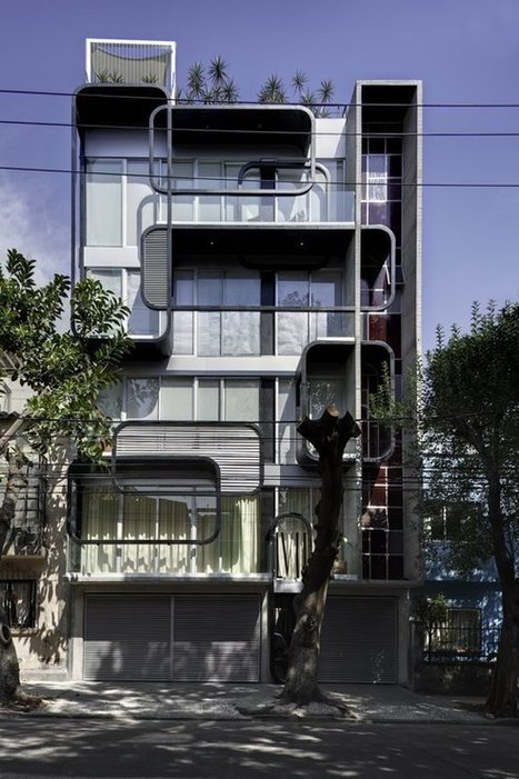 Innovative Facade and Modern Look: LVII Residential Building in Mexico City | Design | News, E-learning, Architecture of the future at news.arcilook.com | Architecture news | Scoop.it