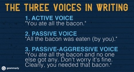 How to Use the Passive Voice Correctly | Grammarly Blog | AdLit | Scoop.it