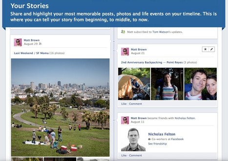 New Facebook: A Timeline for Personal Discovery and Storytelling Turns Everyone into Curator | Brian Solis | Scoop.it Education | Scoop.it