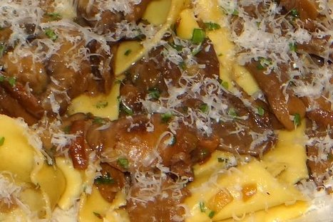 Pappardelle ai funghi (Pappardelle with mushrooms) and...Verdicchio | Le Marche and Food | Scoop.it