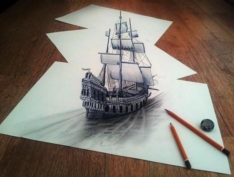 Des dessins au crayon en relief - La boite verte | ART | Scoop.it