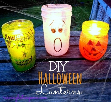 Adorable Halloween Jar Lanterns - Raining Hot Coupons | Halloween Crafts, Decorations, Costumes And Treats | Scoop.it