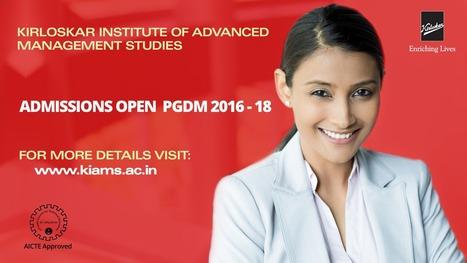 KIAMS announces admissions for the PGDM 2016-18 batch | KIAMS India | Scoop.it