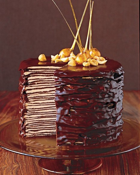 Darkest Chocolate Crepe Cake | DESSERTS FOR THE COOK | Scoop.it