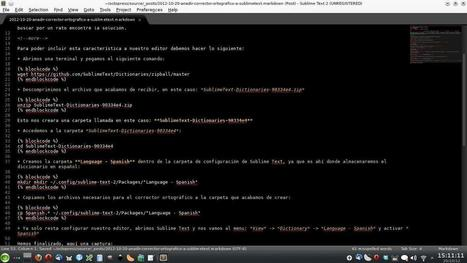Añadir corrector ortográfico a Sublime Text 2 - Perseo's Blog | developed | Scoop.it