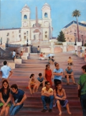Artwork: Conversazioni - Spanish Steps, Rome - Open House Art | Art - Crafts - Design | Scoop.it
