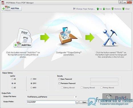 PDFMate Free PDF Merger : un logiciel gratuit pour fusionner les fichiers PDF et les éditer | Time to Learn | Scoop.it