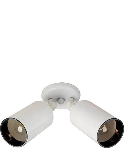 """Maxim 10""""h Spots 2-Light Outdoor Wall Mount White 