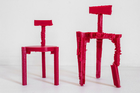 3D printed chairs made from noise by estudio guto requena - designboom | architecture & design magazine | Art News | Scoop.it