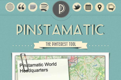 Pinstamatic Pimps Pinterest, Allows for Sharing of Websites, Texts and Places - noupe | ALL ABOUT PINTEREST WITH PHILIPPE TREBAUL ON SCOOP.IT | Scoop.it