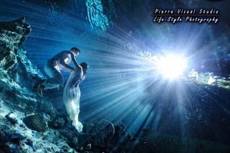 Marisol & Leon's deep cenote Trash The Dress-Riviera Maya   Underwater Trash The Dress   Scoop.it