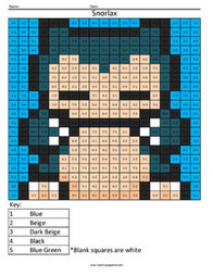 Snorlax- Pokemon Subtraction | Coloring Squared | Scoop.it
