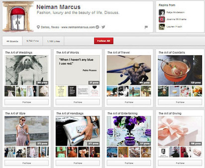 Neiman Marcus Demonstrates How to Sell with Pinterest | Pinterest | Scoop.it