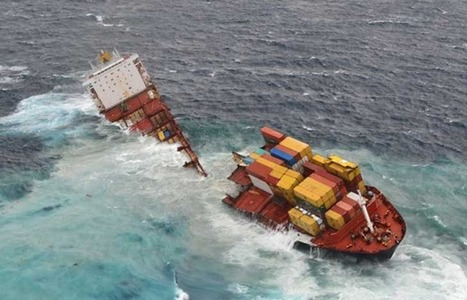 """Stricken ship Rena splits in two in New Zealand"" Isn't a 10K$ fine a bit small compared to the damages? 