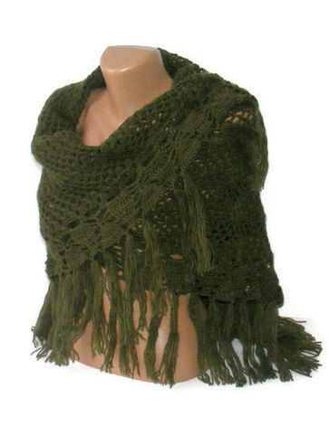 Hand chrocheted shawl, women crochet shawl, wrap, stole, spring winter trends,for her | Winter Fashions | Scoop.it