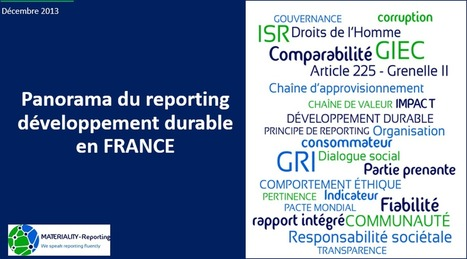 Panorama du reporting développement durable | Green Business_PB | Scoop.it