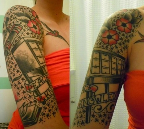 11 Amazing Librarian Tattoos | On libraries & information | Scoop.it