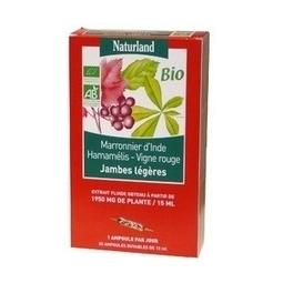 Naturland - Extrait fluide Bio - Jambes légères - - Marronnier d'inde, Hamamelis, Vigne rouge 20 ampoules de 15 ml | Pharma5avenue.com, nouveau site de parapharmacie basé sur la phytothérapie ! | Scoop.it
