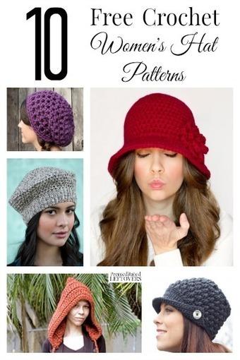 10 Free Crochet Hat Patterns for Women | Free Crochet Patterns | Scoop.it