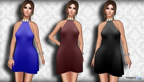 Halterneck Mini Dress Fat Pack 1L Promo by Vitrimi | Teleport Hub - Second Life Freebies | Second Life Freebies | Scoop.it