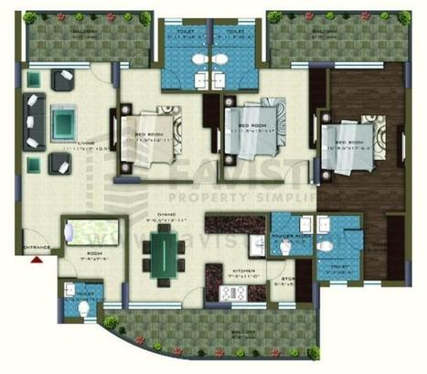 Pareena Coban Residences - Floor Plan | Residential Projects & Property in India | Scoop.it