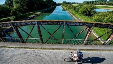 Du côté des marais d'Écourt et au-dessus du canal du Nord, à bicyclette (VIDÉOS) - La Voix du Nord | Tourisme en Nord-Pas de Calais | Scoop.it