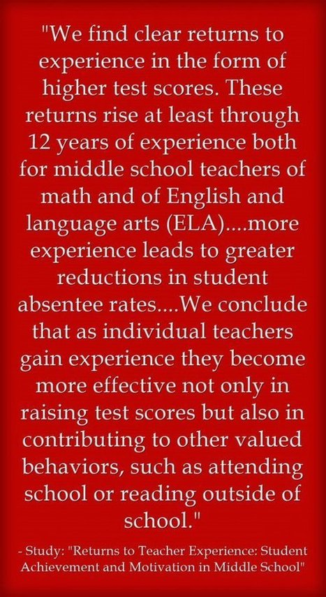 Teacher Experience Matters   Leading Schools   Scoop.it