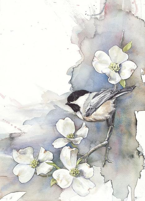 #Watercolor #Paintings Of #Birds. #art #nature | Luby Art | Scoop.it