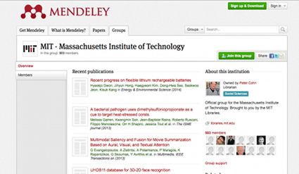 MIT Libraries adopt Mendeley Institutional Edition for all their users | Mendeley Blog | François MAGNAN  Formateur Consultant | Scoop.it