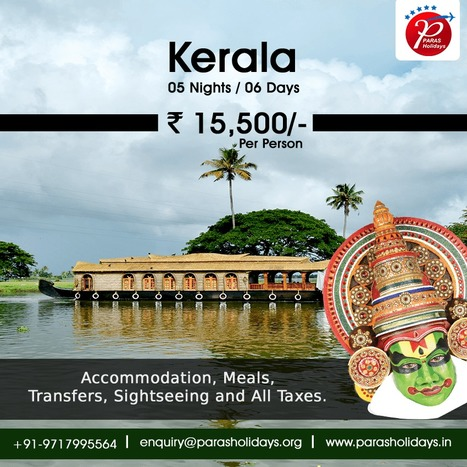 Budget Kerala Honeymoon Tour Packages 2016 from Delhi. | Paras Holidays - Group Tours, Holiday Packages, Honeymoon Packages 2017 | Scoop.it